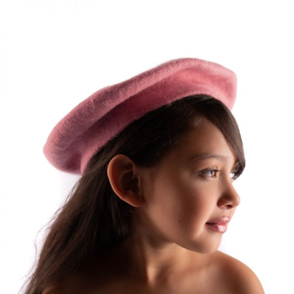 Little Lady B - French Style Beret Hat Pink