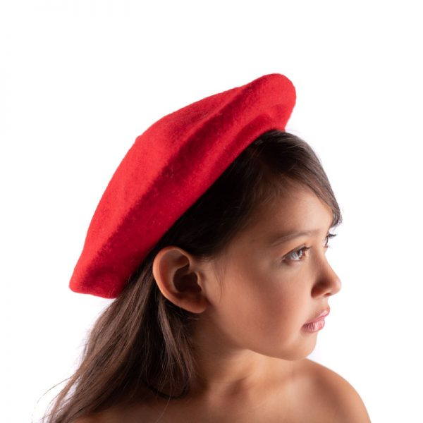 Little Lady B - French Style Beret Hat Red