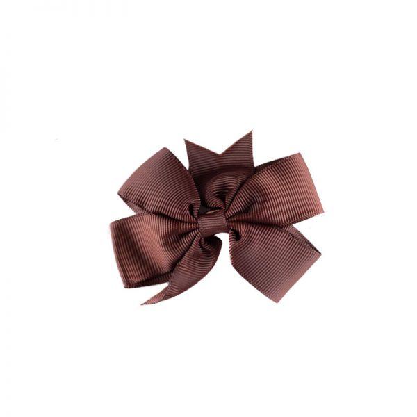 Little Lady B - Mini Hair Bow Dark Chocolate