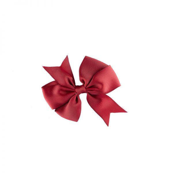 Little Lady B - Mini Hair Bow Dark Red