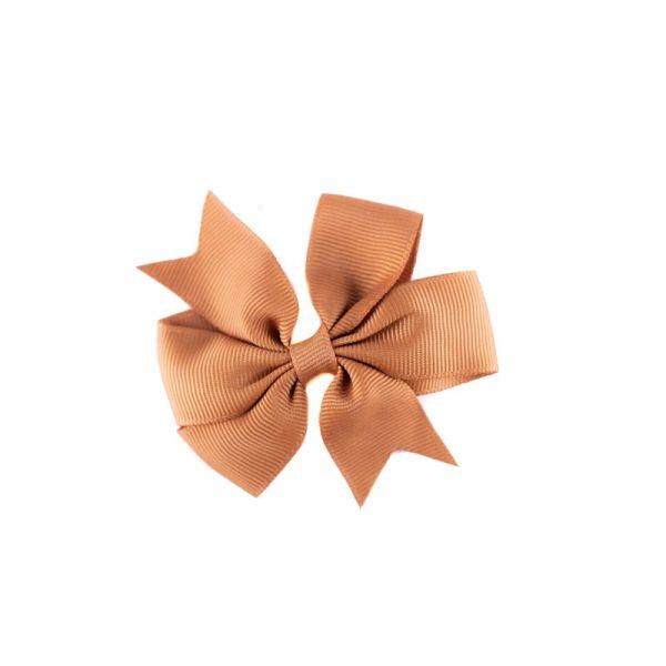 Little Lady B - Mini Hair Bow Light Brown