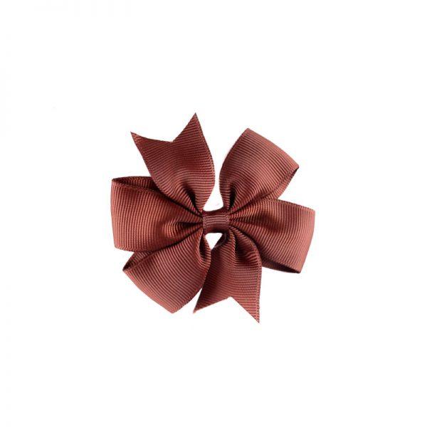 Little Lady B - Mini Hair Bow Milk Chocolate
