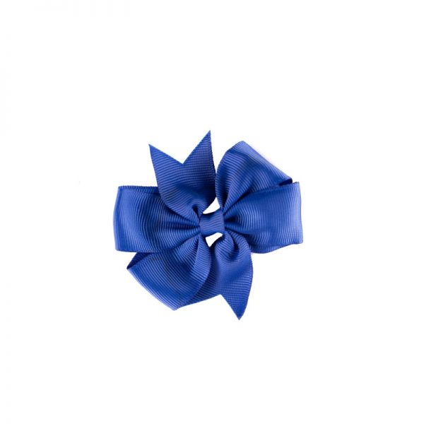 Little Lady B - Mini Hair Bow Ocean Blue