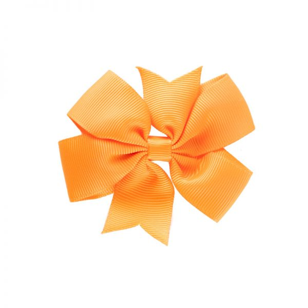 Little Lady B - Mini Hair Bow Orange