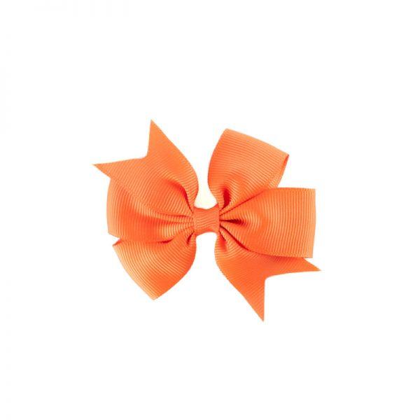 Little Lady B - Mini Hair Bow Pumpkin Orange