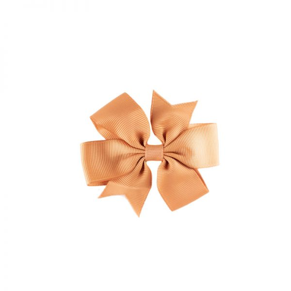 Little Lady B - Mini Hair Bow Tan