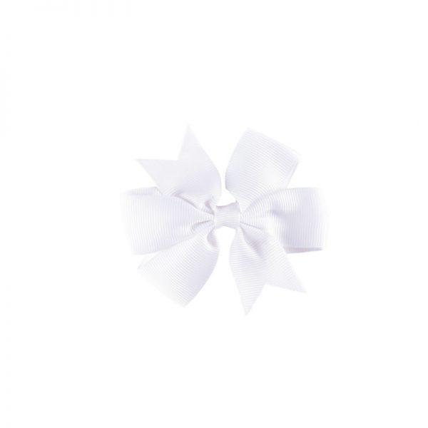 Little Lady B - Mini Hair Bow White
