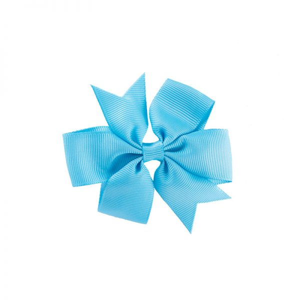 Little Lady B - Mini Hair Bow Deep Blue Sky