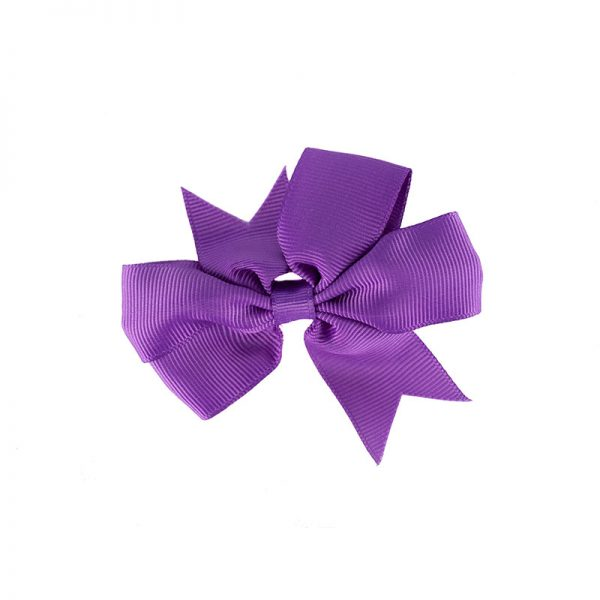Little Lady B - Mini Hair Bow Eggplant