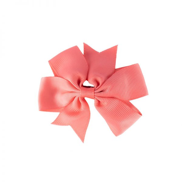 Little Lady B - Mini Hair Bow Salmon